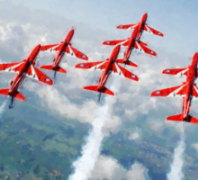 The Red Arrows - Raf Display Team painting / digital art Sticker