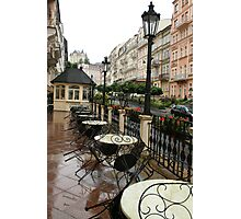 Street cafe after the rain Photographic Print