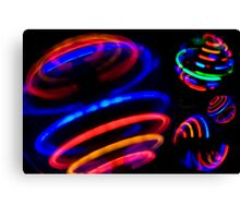 Neon Spin Canvas Print