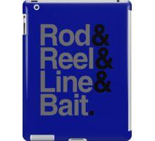 Rod & Reel & Line & Bait. iPad Case/Skin