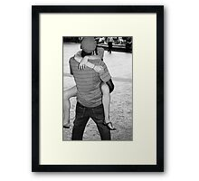 The Kiss - Romance in Black and White, New York City Framed Print