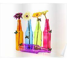 Bottles and Butterflies Poster