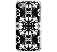Ornamental seamless pattern damask arabesque white elements texture black iPhone Case/Skin