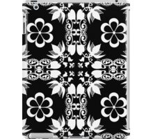 Ornamental seamless pattern damask arabesque white elements texture black iPad Case/Skin