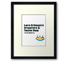 Lars Erikkson's Drug Store & Tackle Shop Framed Print