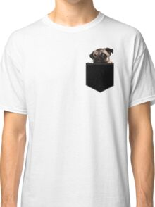 Pug Pocket Classic T-Shirt