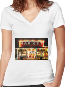 Napa Market Women's Fitted V-Neck T-Shirt