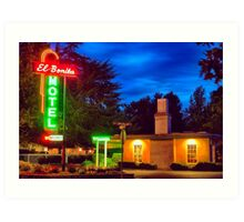 Napa Motel Neon Art Print