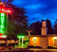 Napa Motel Neon by George Oze