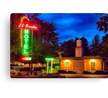 Napa Motel Neon Canvas Print