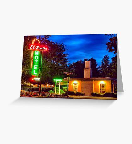 Napa Motel Neon Greeting Card
