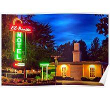 Napa Motel Neon Poster