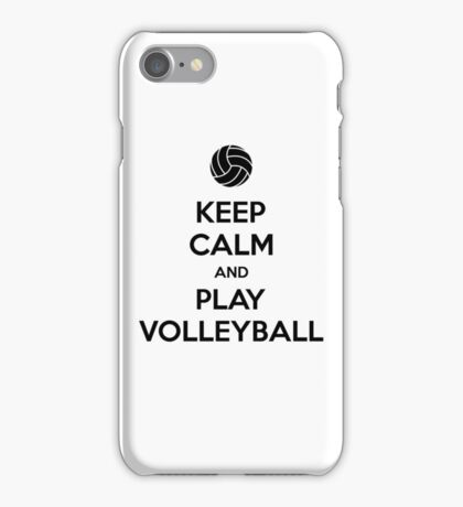 Keep Calm and Play Volleyball iPhone Case/Skin