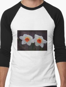 White Daffodils  Men's Baseball ¾ T-Shirt