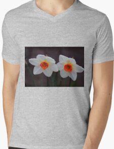 White Daffodils  Mens V-Neck T-Shirt