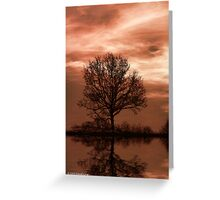 The Sun Goes Down Greeting Card