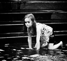 Girl in Fountain by Judith Oppenheimer