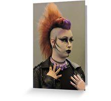 Punky Purple Greeting Card