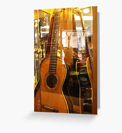 Guitar Puzzle Greeting Card