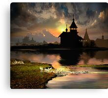 Evening Silhouettes Canvas Print