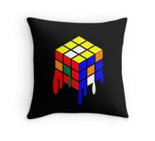 Dripping Cube Throw Pillow