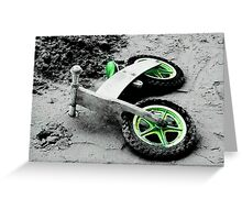 Green Wheels and Black Tyres  Greeting Card