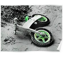 Green Wheels and Black Tyres  Poster