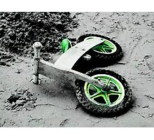 Green Wheels and Black Tyres  Photographic Print