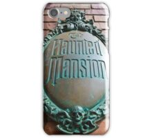 Haunted Mansion sign iPhone Case/Skin