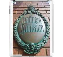 Haunted Mansion sign iPad Case/Skin