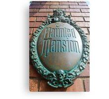 Haunted Mansion sign Metal Print