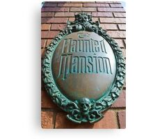 Haunted Mansion sign Canvas Print