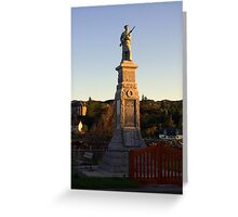 War Memorial Lochinver Sutherland Greeting Card
