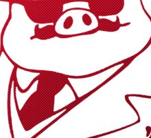 Red Pig  Sticker