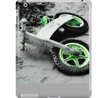 Green Wheels and Black Tyres  iPad Case/Skin
