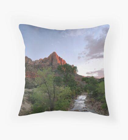 Zion Alpenglow  Throw Pillow