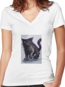 Boris. Women's Fitted V-Neck T-Shirt