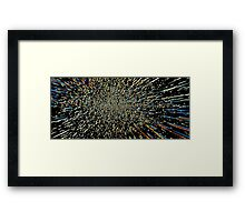 Star Warp Framed Print