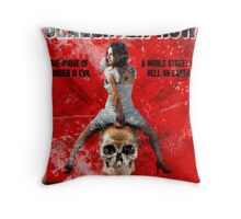 Slaughter Row Throw Pillow