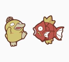 Pokémon / Psyduck and Magikarp by valione