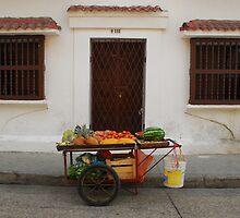Fruit stall by Amanda Sutherland