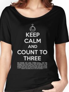 Keep calm and kill the bunny. Women's Relaxed Fit T-Shirt