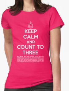 Keep calm and kill the bunny. Womens Fitted T-Shirt