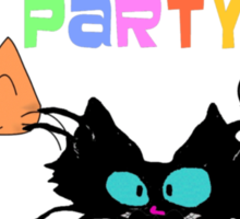 Mustache Party with Kitties Sticker
