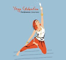 Yoga Celebration - Parighasana Party Style Womens Fitted T-Shirt