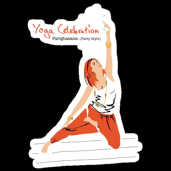 Yoga Celebration - Parighasana Party Style by Amanda Latchmore