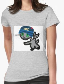 Mosh Pit Charlie Cat Womens Fitted T-Shirt