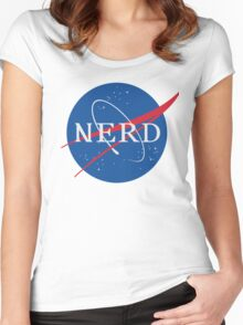 NASA Nerd Women's Fitted Scoop T-Shirt