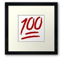 100 Framed Print