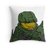 Master Chief Headshot Celtic Colored Throw Pillow